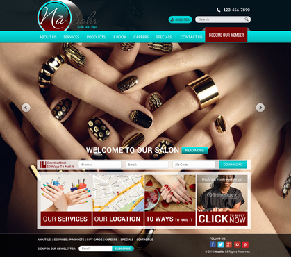 Website Redesign for Airport Nail Salon