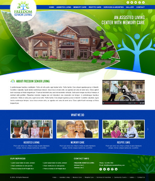 Senior Living Complete Web Design Solution Winning Design by pivotal