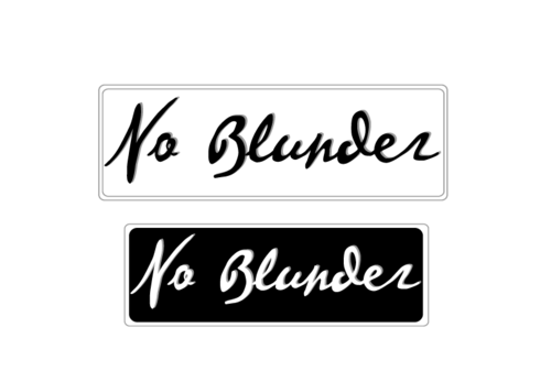 NOBlunder or No Blunder  A Logo, Monogram, or Icon  Draft # 124 by 08876