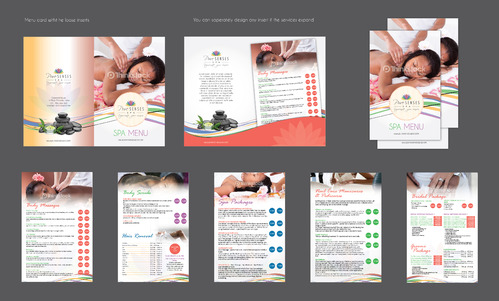 spa graphics Marketing collateral Winning Design by Achiver