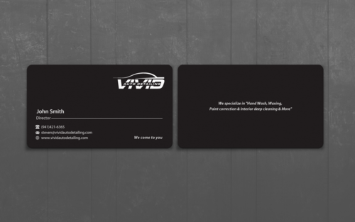 Vivid auto detailing - Business card