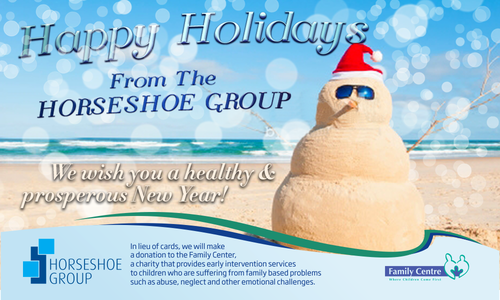 Electronic Holiday card to be email to clients of a financial services company