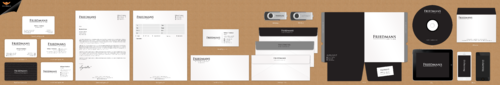 FRIEDMANS Business Cards and Stationery Winning Design by einsanimation