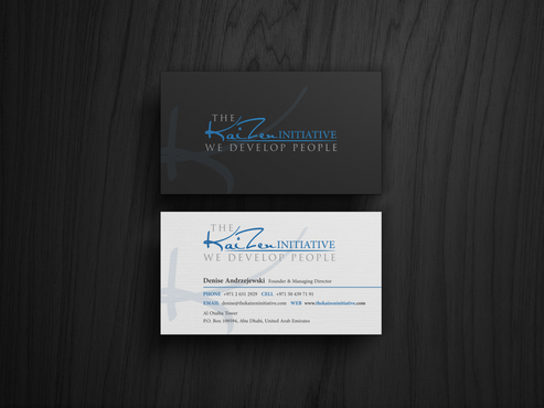 The Kaizen Initiative  Business Cards and Stationery  Draft # 74 by hypdesign