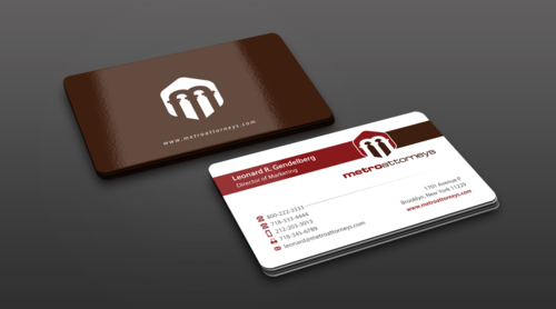 metroattorneys Business Cards and Stationery Winning Design by einsanimation