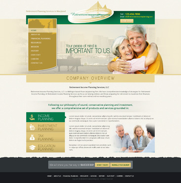 Retirement Income Planning Services, LLC Complete Web Design Solution  Draft # 69 by EXPartLogo