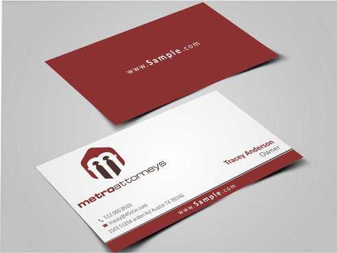 metroattorneys Business Cards and Stationery  Draft # 290 by Dawson