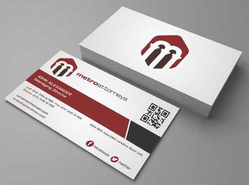metroattorneys Business Cards and Stationery  Draft # 293 by Dawson