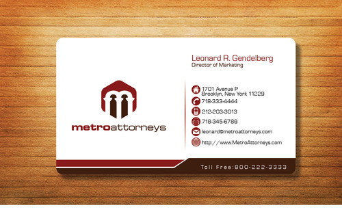 metroattorneys Business Cards and Stationery  Draft # 295 by Tjcdesign