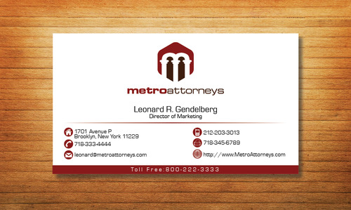 metroattorneys Business Cards and Stationery  Draft # 296 by Tjcdesign
