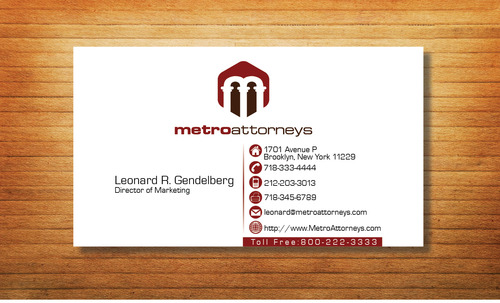 metroattorneys Business Cards and Stationery  Draft # 297 by Tjcdesign