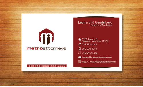 metroattorneys Business Cards and Stationery  Draft # 298 by Tjcdesign
