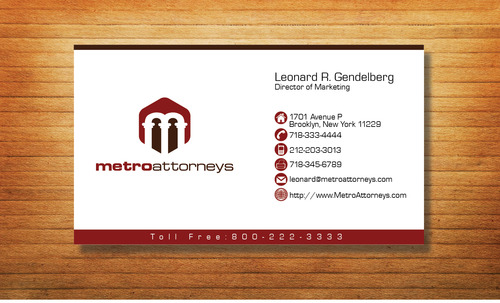 metroattorneys Business Cards and Stationery  Draft # 299 by Tjcdesign