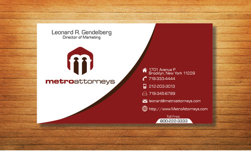 metroattorneys Business Cards and Stationery  Draft # 300 by Tjcdesign