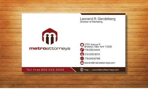 metroattorneys Business Cards and Stationery  Draft # 301 by Tjcdesign