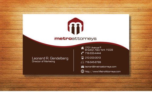 metroattorneys Business Cards and Stationery  Draft # 303 by Tjcdesign