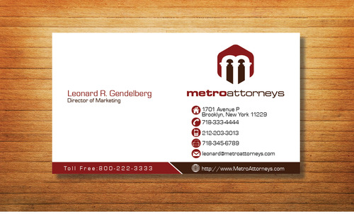 metroattorneys Business Cards and Stationery  Draft # 316 by Tjcdesign