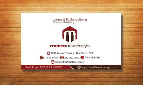 metroattorneys Business Cards and Stationery  Draft # 320 by Tjcdesign