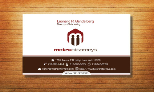 metroattorneys Business Cards and Stationery  Draft # 321 by Tjcdesign