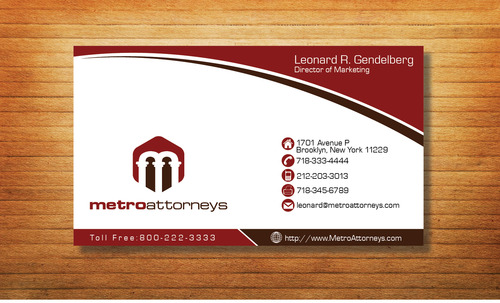 metroattorneys Business Cards and Stationery  Draft # 322 by Tjcdesign