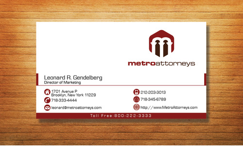metroattorneys Business Cards and Stationery  Draft # 324 by Tjcdesign