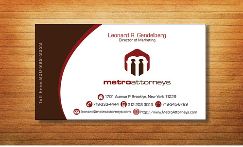metroattorneys Business Cards and Stationery  Draft # 326 by Tjcdesign