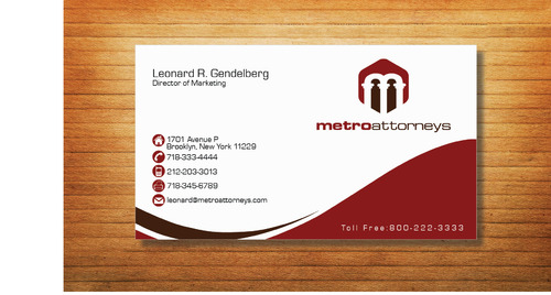 metroattorneys Business Cards and Stationery  Draft # 327 by Tjcdesign