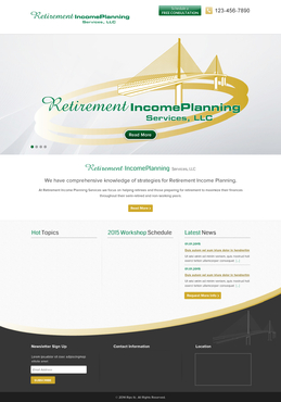 Retirement Income Planning Services, LLC Complete Web Design Solution  Draft # 132 by jogdesigner