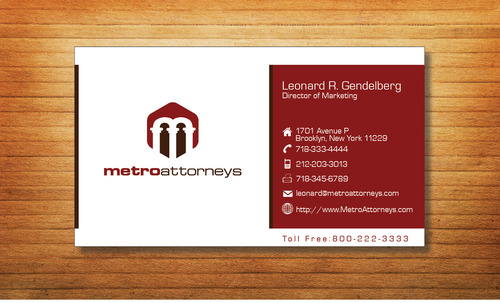 metroattorneys Business Cards and Stationery  Draft # 328 by Tjcdesign