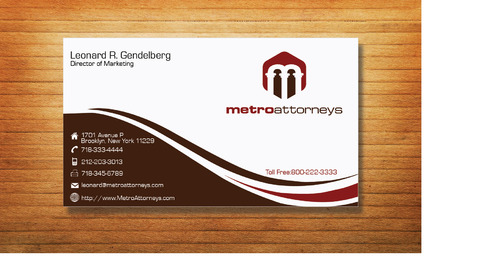metroattorneys Business Cards and Stationery  Draft # 331 by Tjcdesign