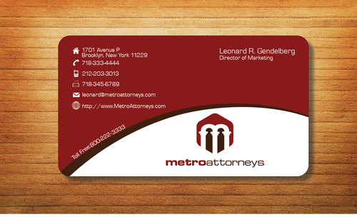 metroattorneys Business Cards and Stationery  Draft # 332 by Tjcdesign