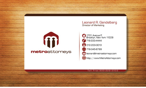 metroattorneys Business Cards and Stationery  Draft # 333 by Tjcdesign