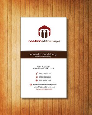 metroattorneys Business Cards and Stationery  Draft # 334 by Tjcdesign