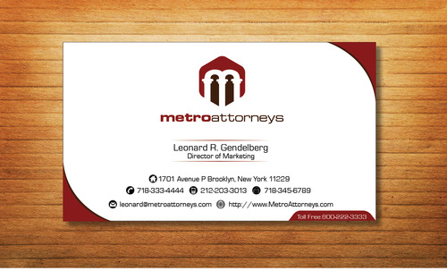 metroattorneys Business Cards and Stationery  Draft # 335 by Tjcdesign