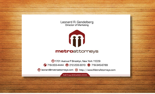metroattorneys Business Cards and Stationery  Draft # 336 by Tjcdesign