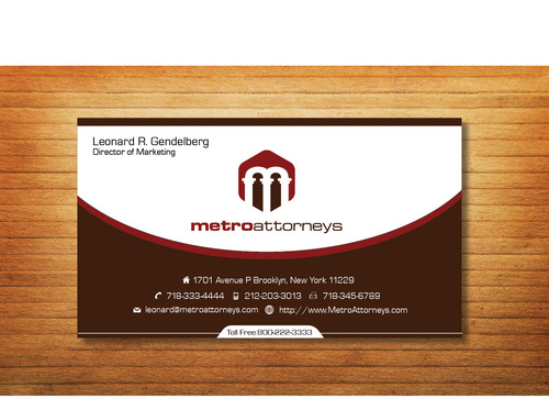 metroattorneys Business Cards and Stationery  Draft # 337 by Tjcdesign