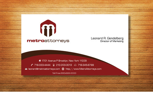 metroattorneys Business Cards and Stationery  Draft # 338 by Tjcdesign
