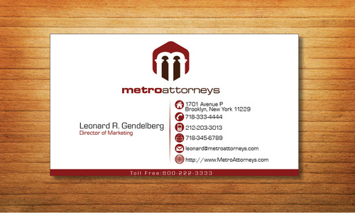 metroattorneys Business Cards and Stationery  Draft # 339 by Tjcdesign