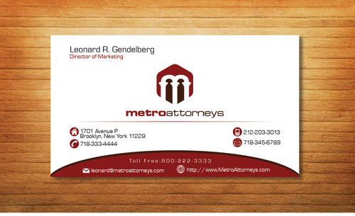 metroattorneys Business Cards and Stationery  Draft # 354 by Tjcdesign