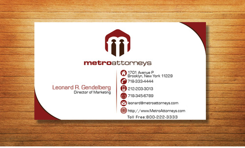 metroattorneys Business Cards and Stationery  Draft # 356 by Tjcdesign