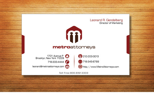 metroattorneys Business Cards and Stationery  Draft # 358 by Tjcdesign