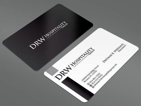 DRW Hospitality Group, LLC Business Cards and Stationery  Draft # 109 by ArtworksKingdom