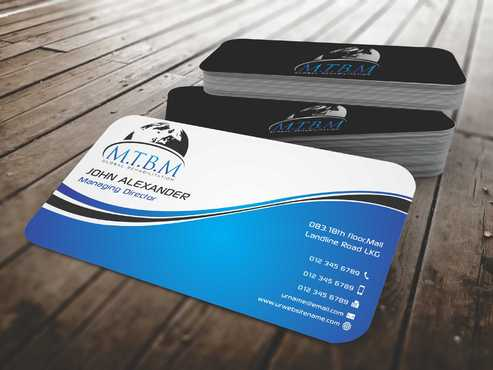 Business Card and Stationary for MTBM Global Rehabilitation Business Cards and Stationery  Draft # 146 by Dawson