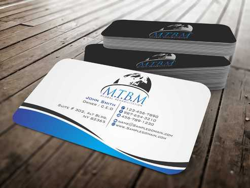 Business Card and Stationary for MTBM Global Rehabilitation Business Cards and Stationery  Draft # 149 by Dawson