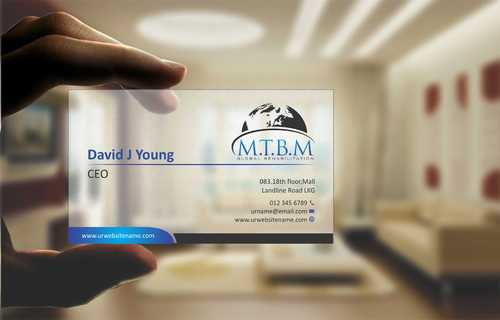 Business Card and Stationary for MTBM Global Rehabilitation Business Cards and Stationery  Draft # 153 by Dawson