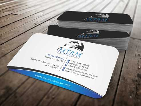 Business Card and Stationary for MTBM Global Rehabilitation Business Cards and Stationery  Draft # 154 by Dawson