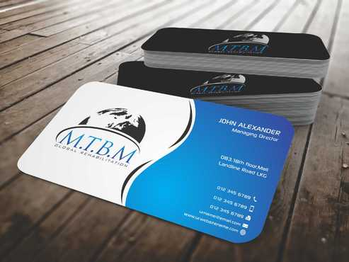 Business Card and Stationary for MTBM Global Rehabilitation Business Cards and Stationery  Draft # 156 by Dawson