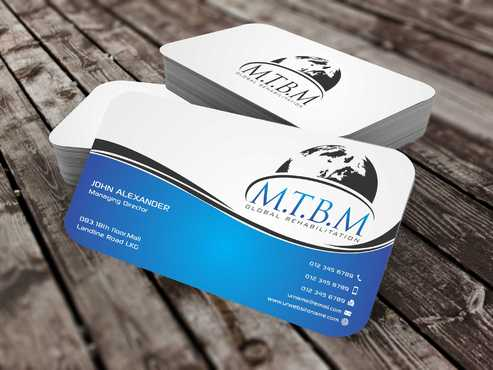 Business Card and Stationary for MTBM Global Rehabilitation Business Cards and Stationery  Draft # 159 by Dawson