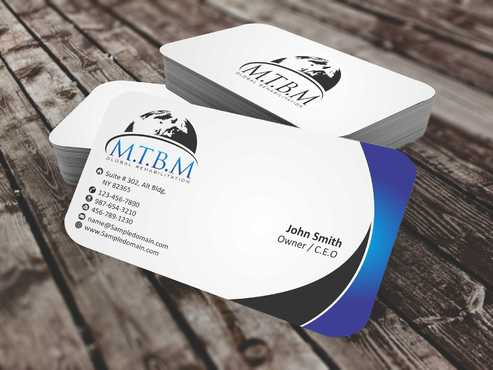 Business Card and Stationary for MTBM Global Rehabilitation Business Cards and Stationery  Draft # 160 by Dawson