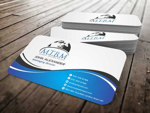 Business Card and Stationary for MTBM Global Rehabilitation Business Cards and Stationery  Draft # 162 by Dawson